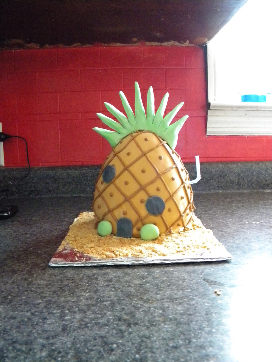 Spongebob's Pineapplel House on Cake Central
