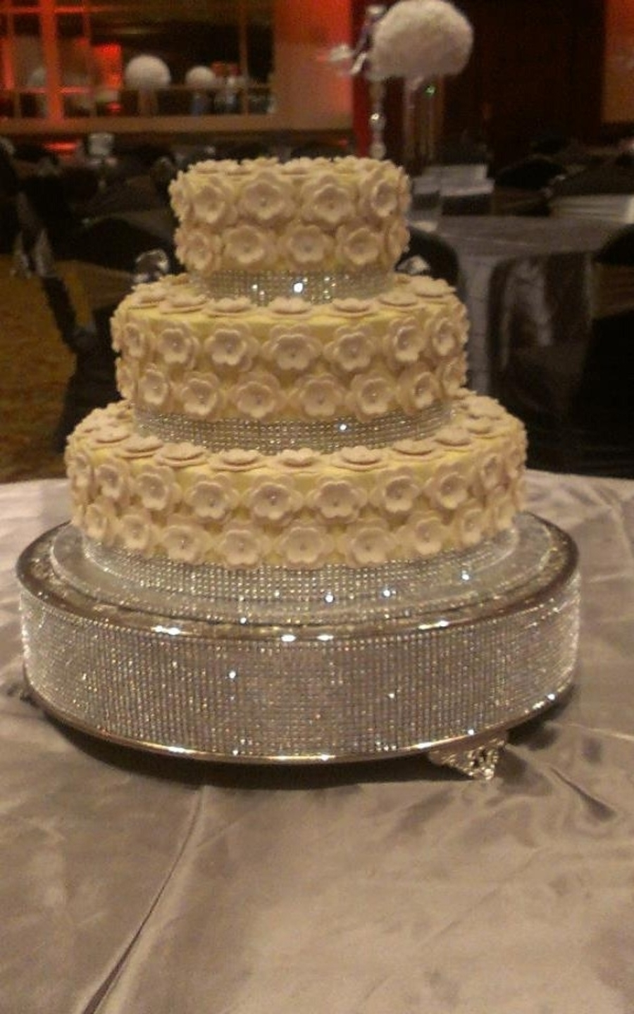 Bling And Blossoms Wedding Cake on Cake Central