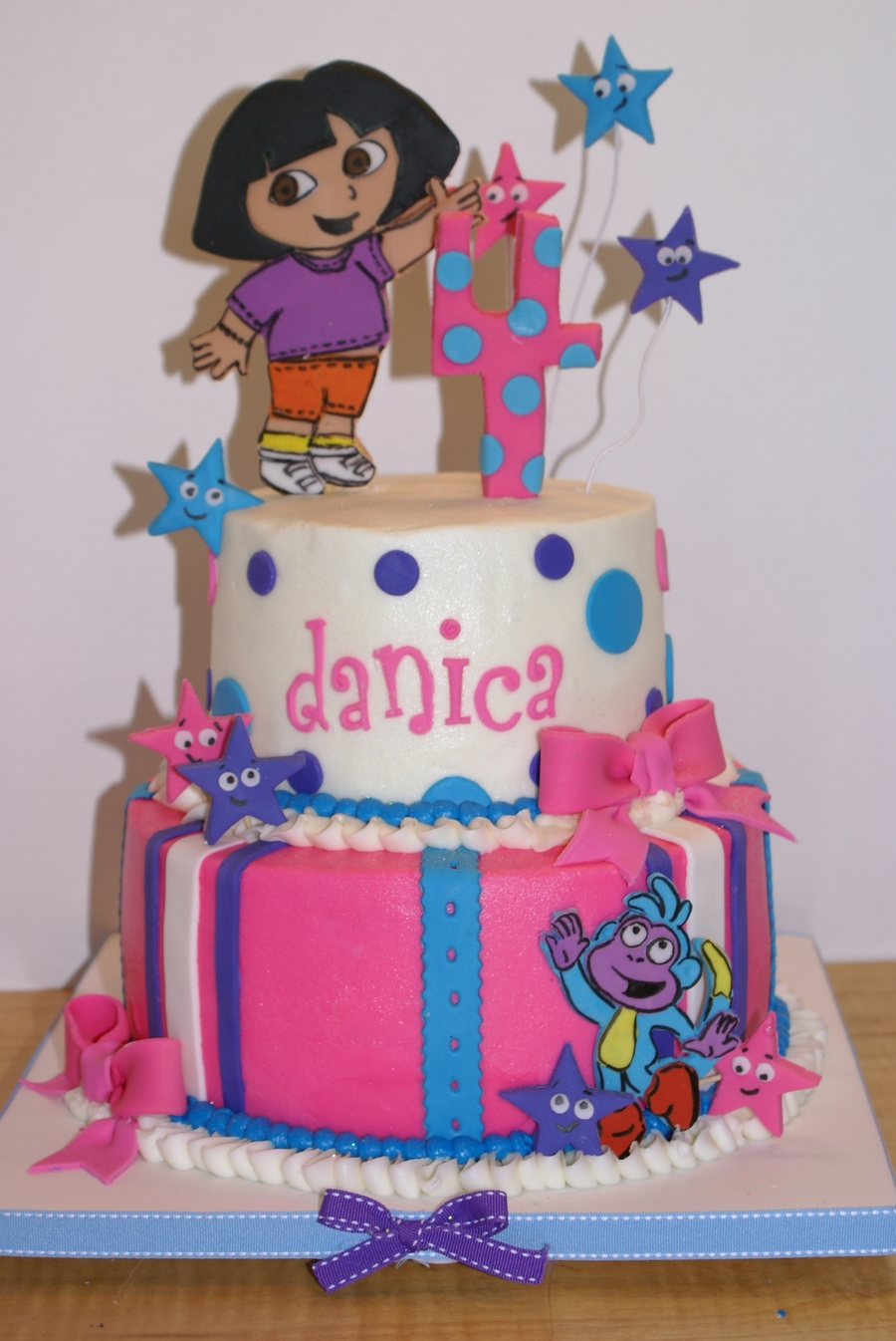 Miraculous Dora Fourth Birthday Cake Cakecentral Com Funny Birthday Cards Online Alyptdamsfinfo