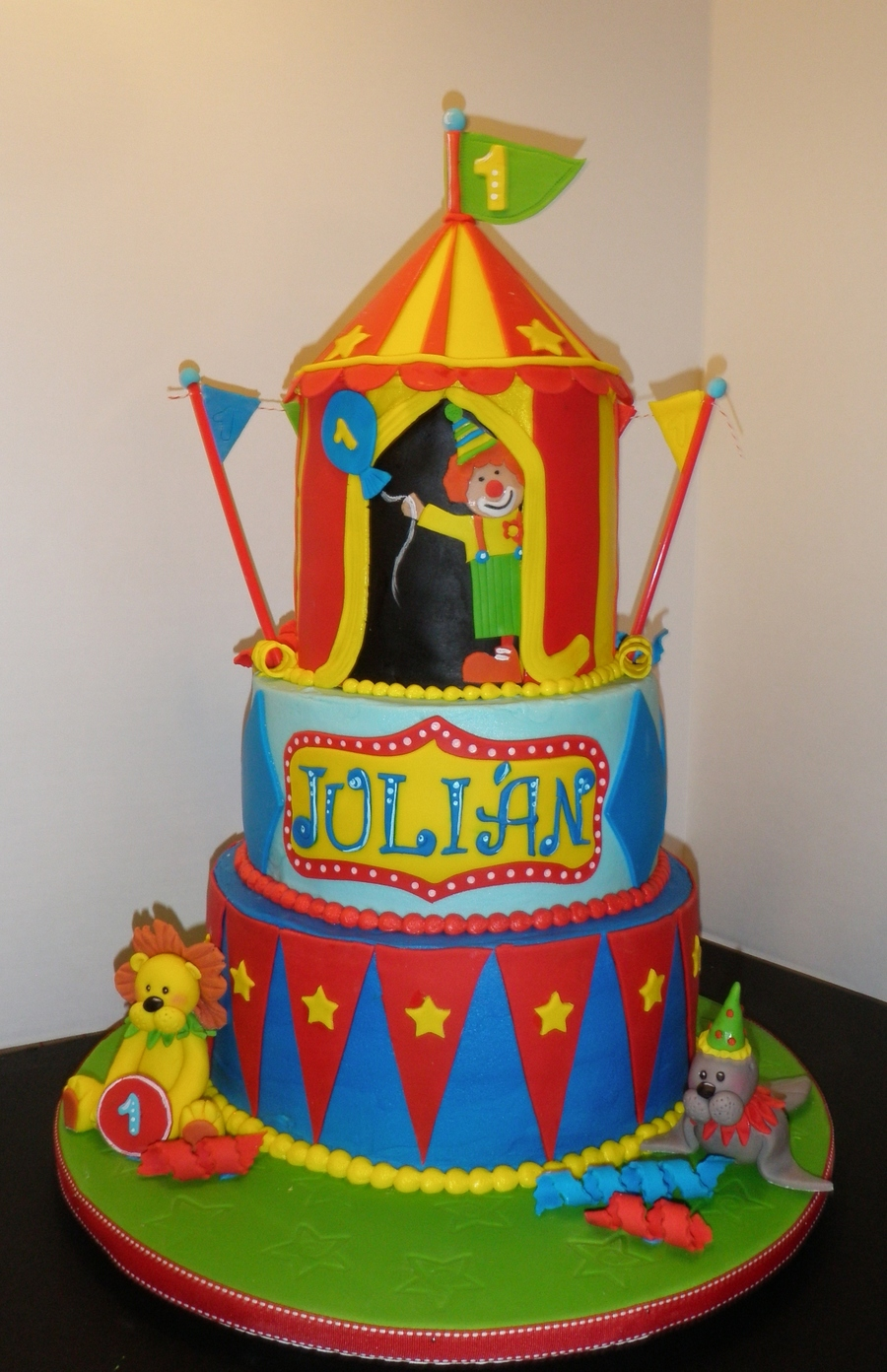 Big Top First Birhday Cakecentral Com