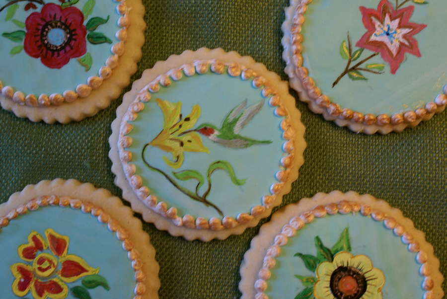 Handpainted Spring Cookies on Cake Central
