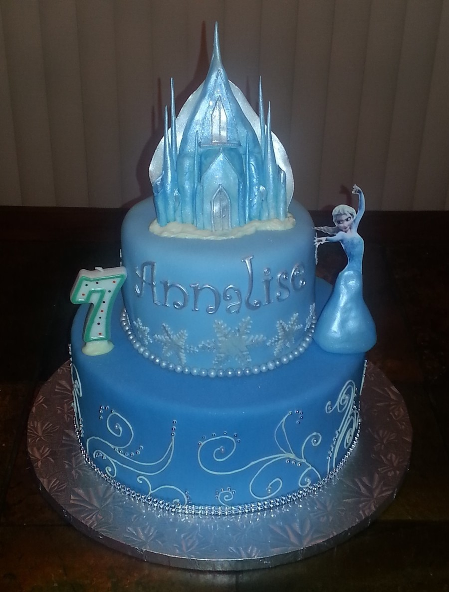 Elsa Castle Cake Decoration : Frozen Cake With Elsa - CakeCentral.com