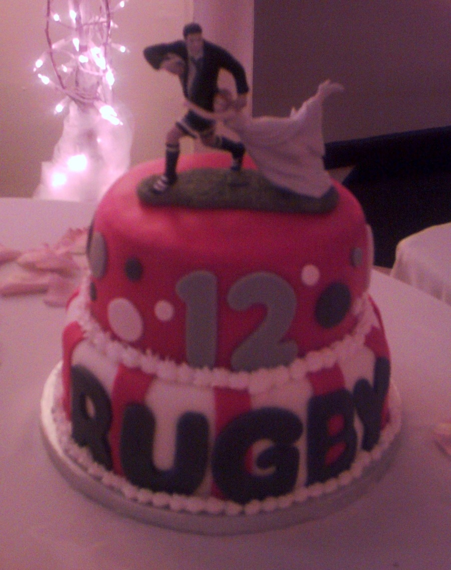Rugby Groom's Cake on Cake Central