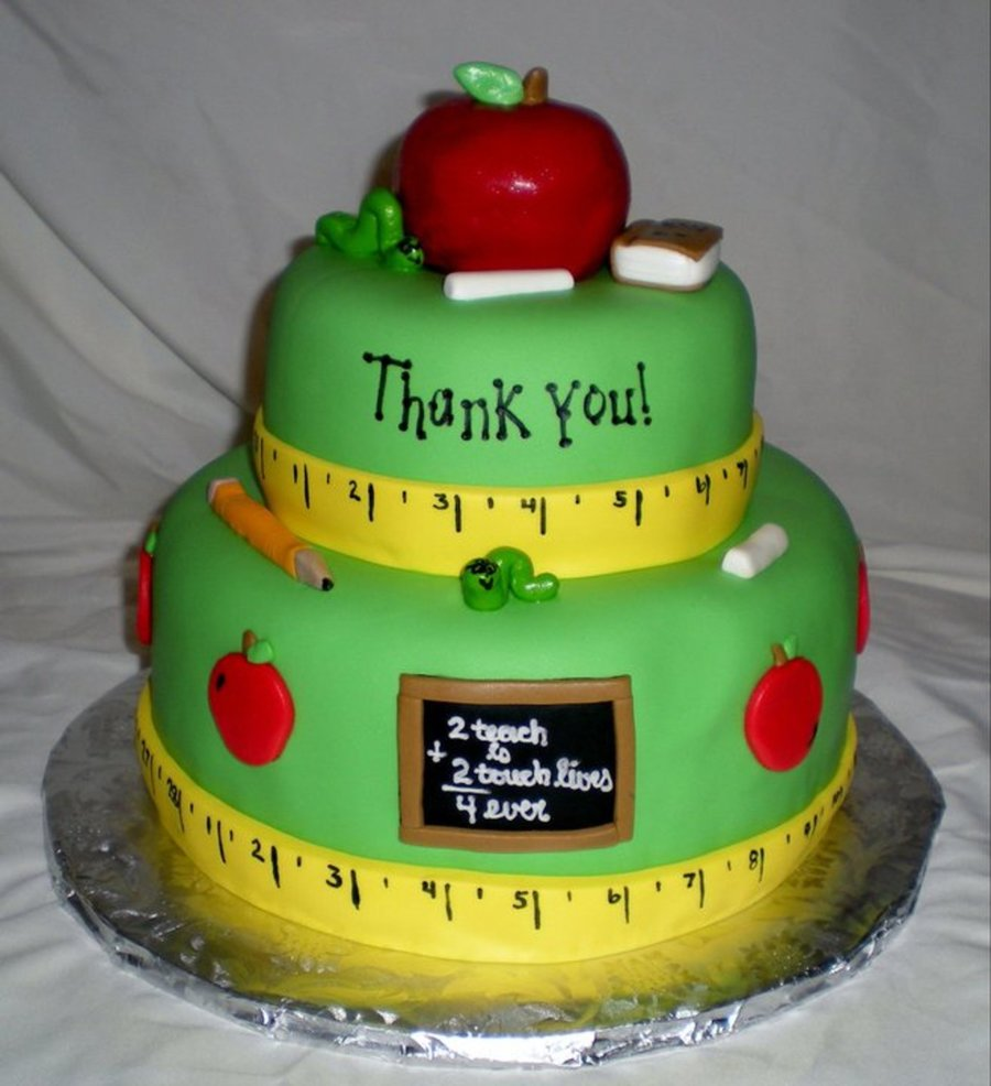 Teacher Appreciation Cake  on Cake Central