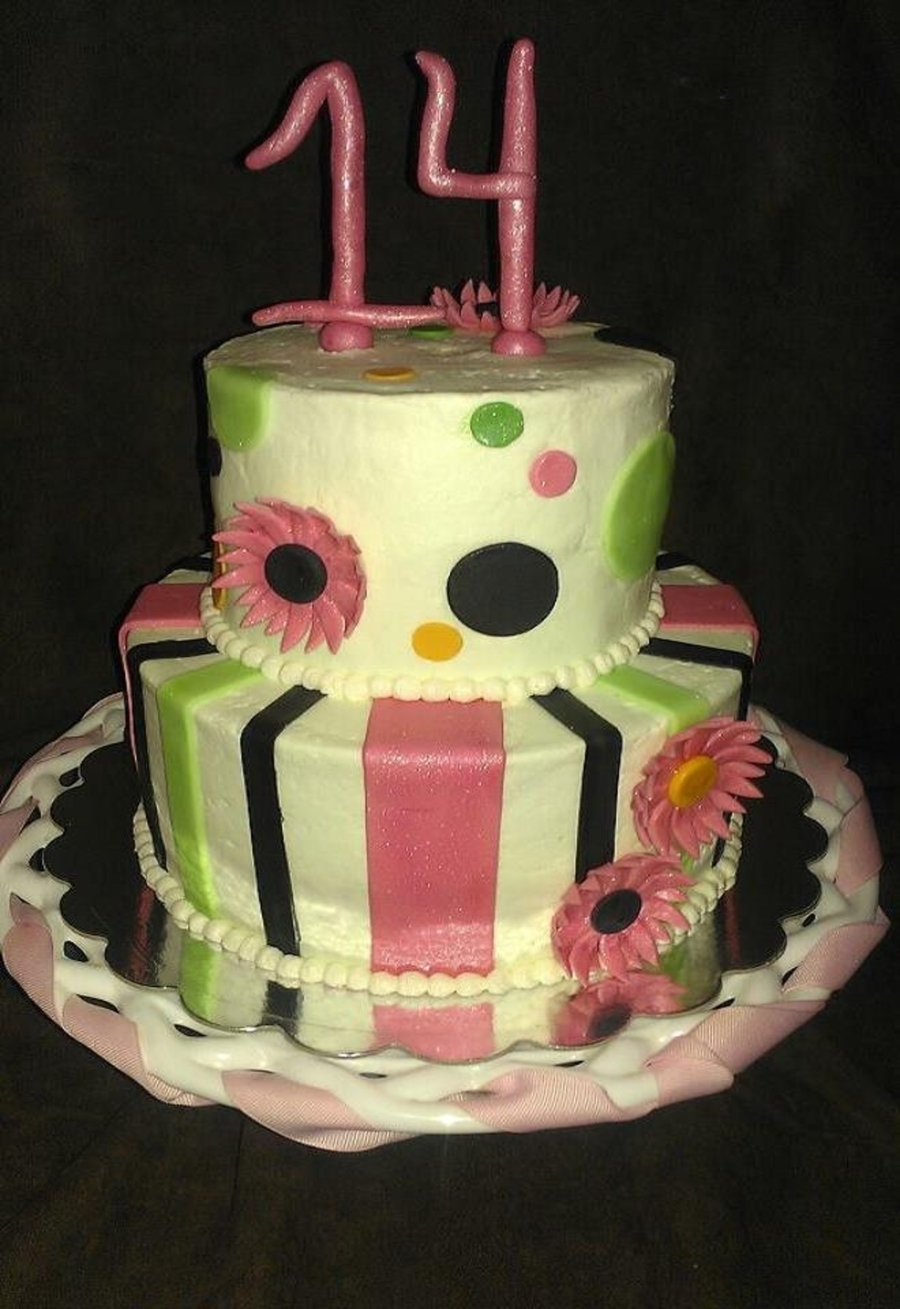 Polka Dots And Stripes on Cake Central