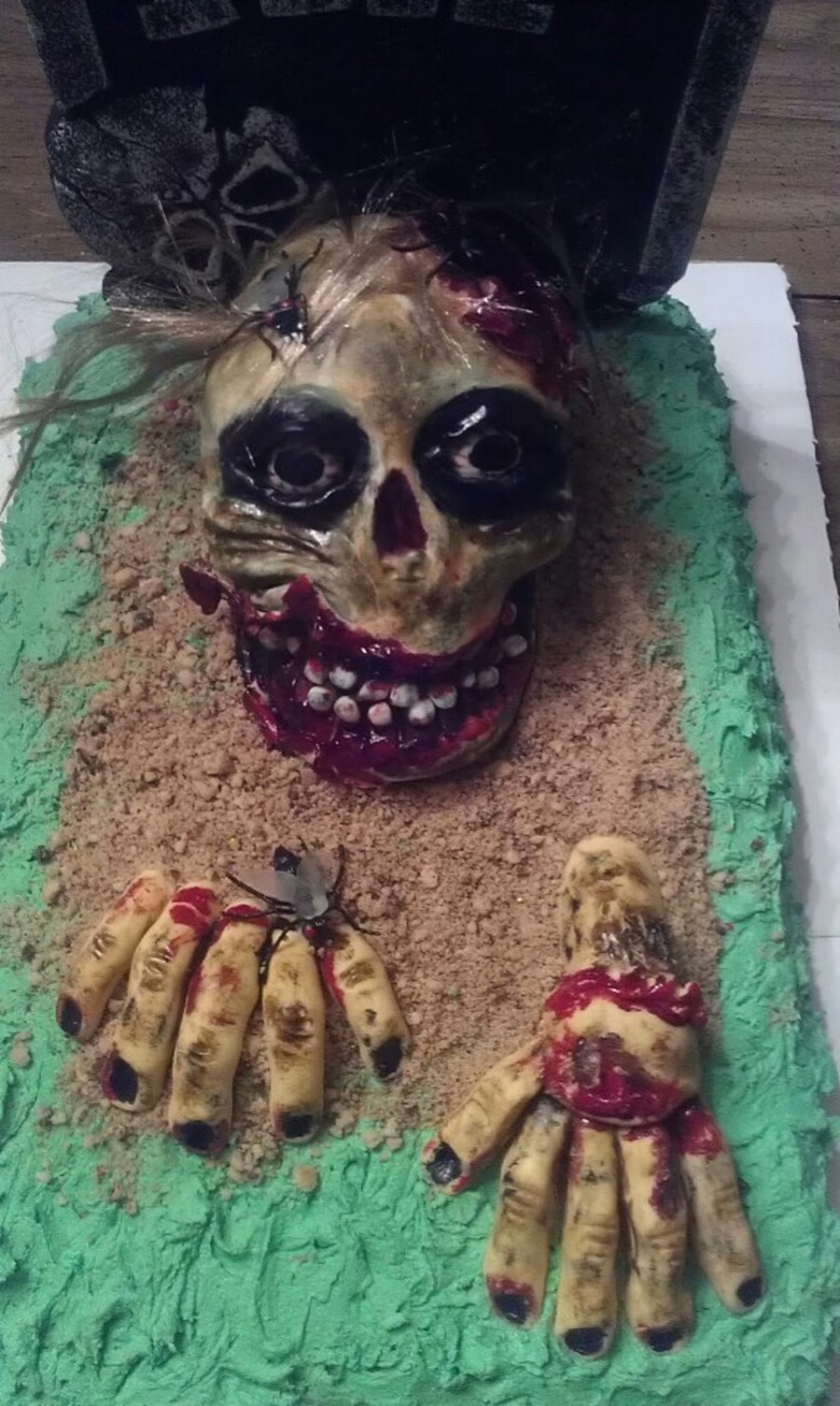 Halloween Zombie Cake on Cake Central