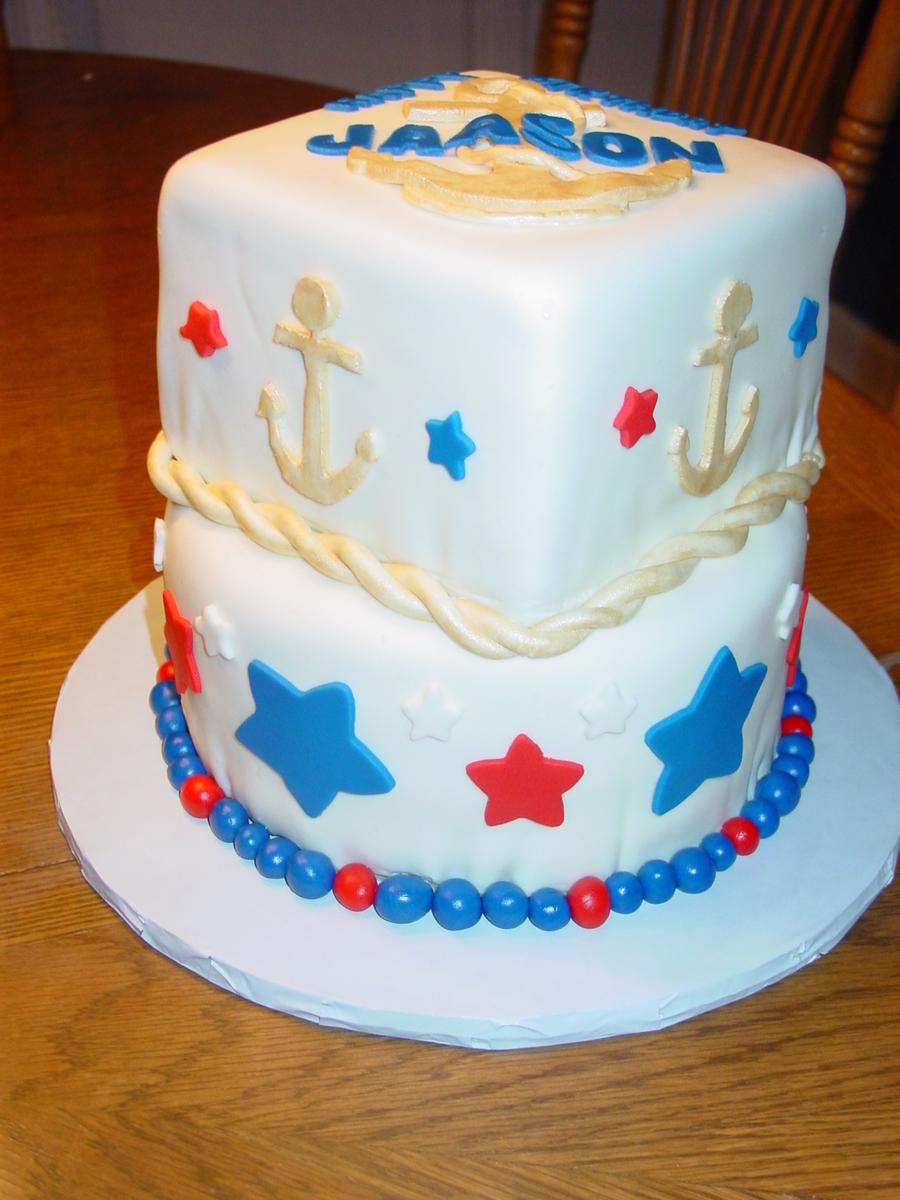 Pleasing Navy Birthday Cake Cakecentral Com Funny Birthday Cards Online Inifodamsfinfo