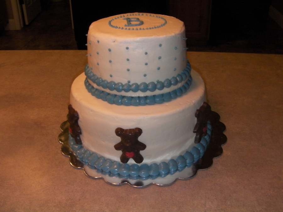 Simple Baby Shower on Cake Central
