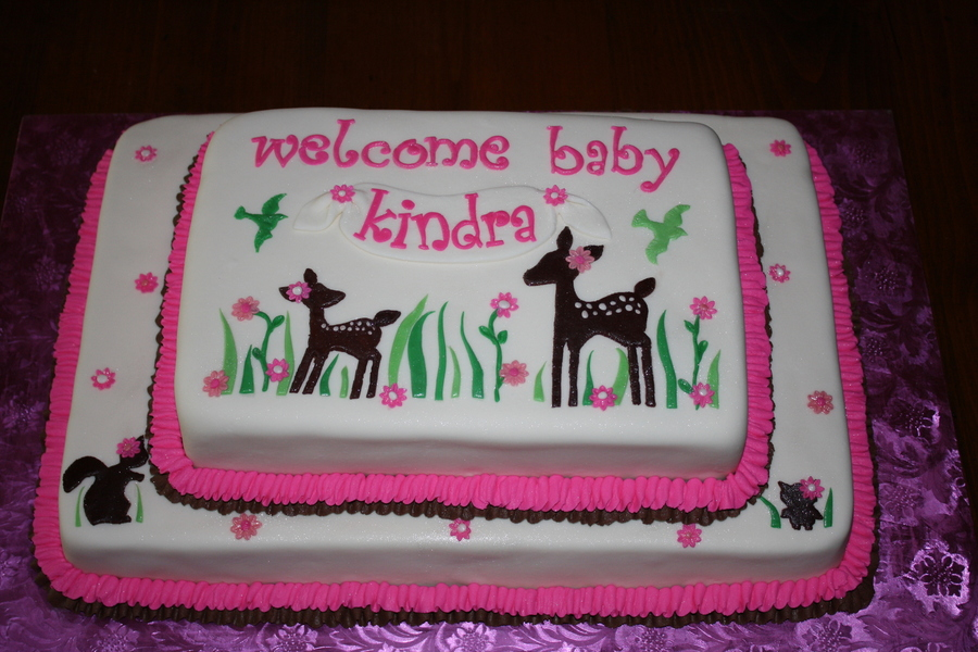 baby deer baby shower cake