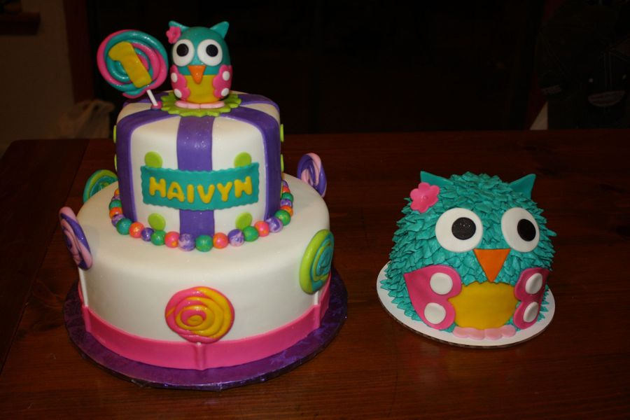 Owl First Birthday CakeCentralcom