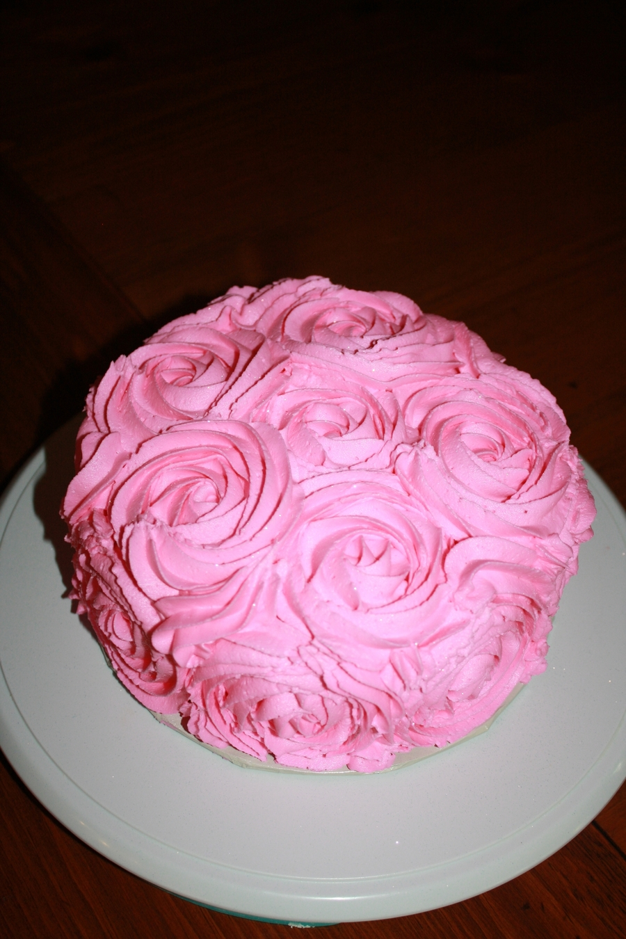 Pink Rose Technique Smash Cake on Cake Central