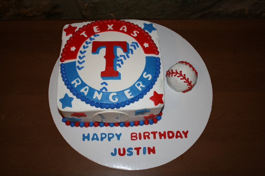 Texas Rangers on Cake Central