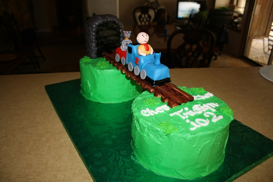 Caillou In Train on Cake Central