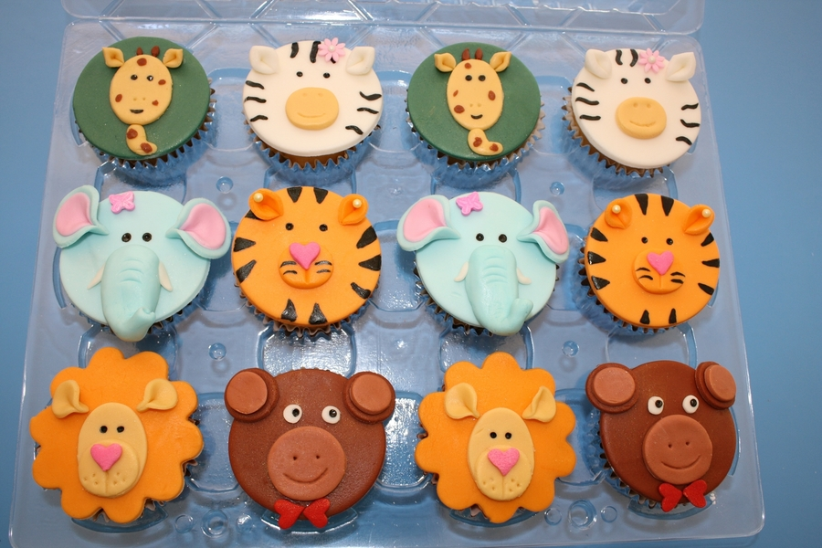 Zoo Animal Cupcakes on Cake Central