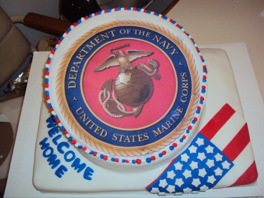 Welcome Home Marine on Cake Central