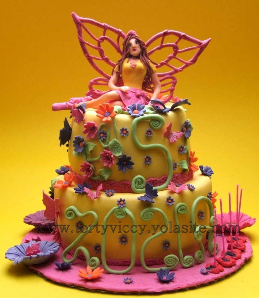 Cake With Fairy on Cake Central