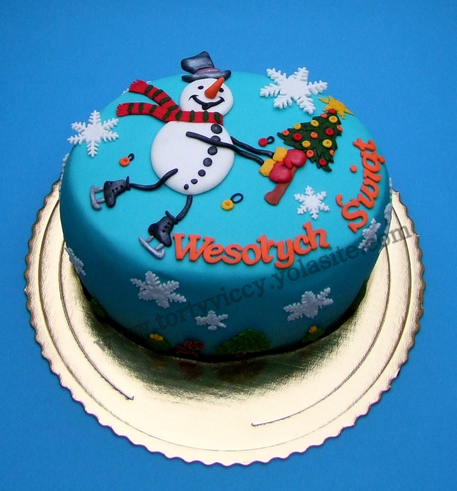 Cake Snowman on Cake Central
