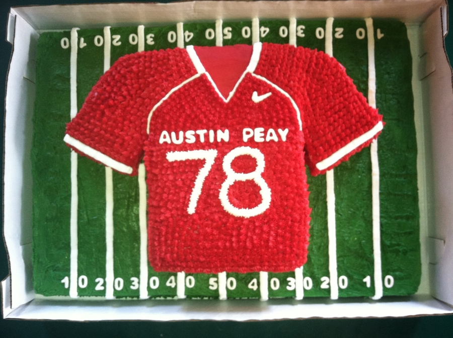 Austin Peay Football Jersey on Cake Central