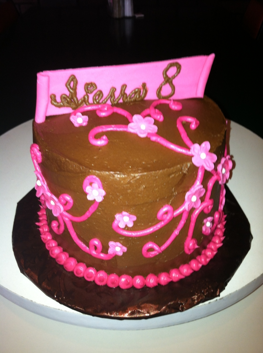 Chocolate Pink Swirls on Cake Central