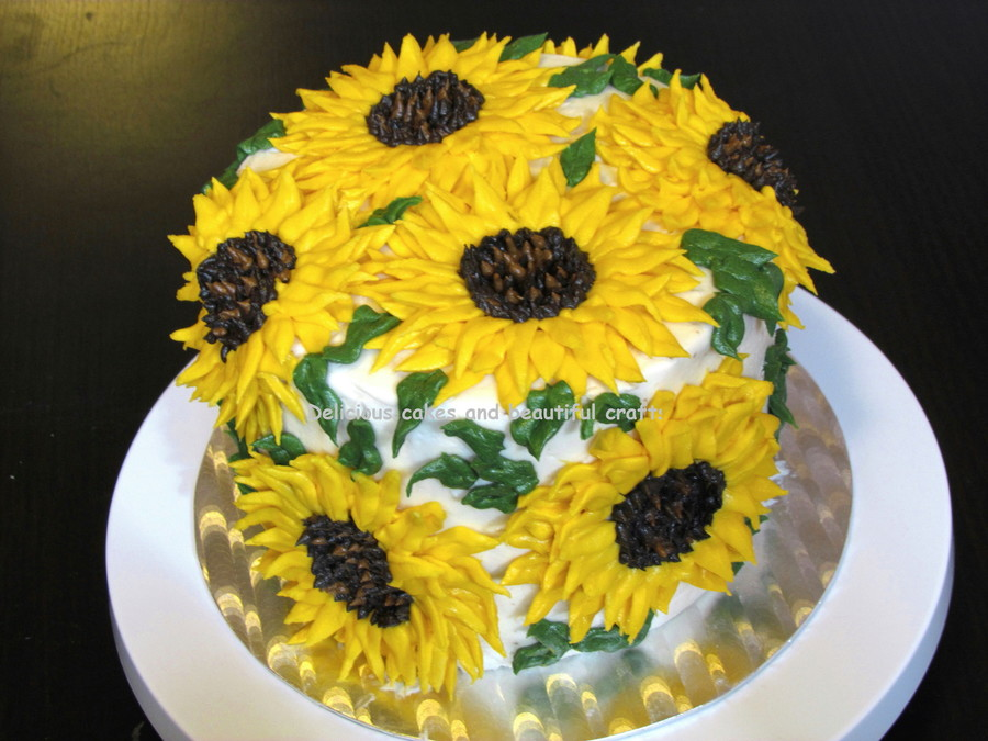 Images Of Cakes With Sunflowers