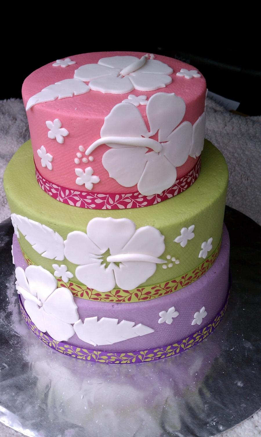 Hibiscus Cake - CakeCentral.com