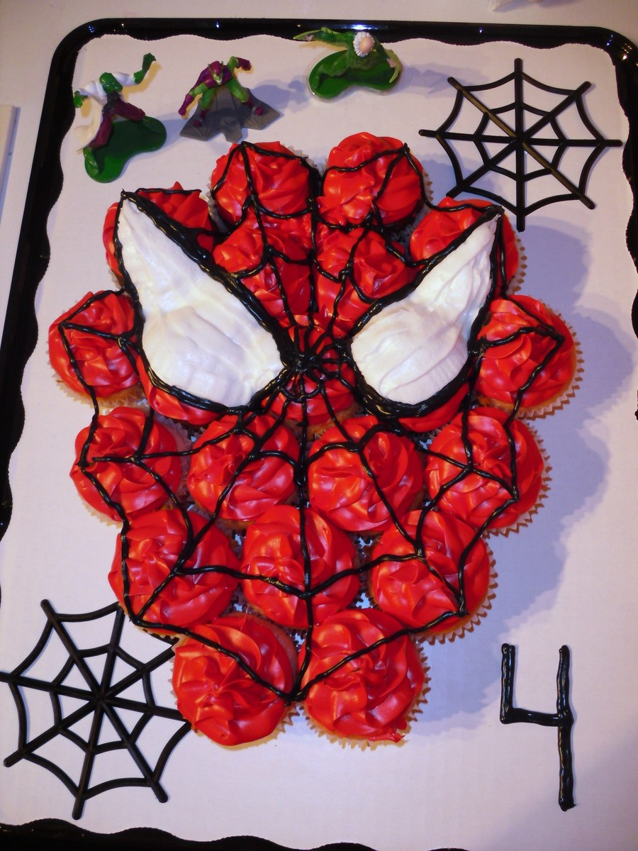 Spiderman Cupcake Cake on Cake Central