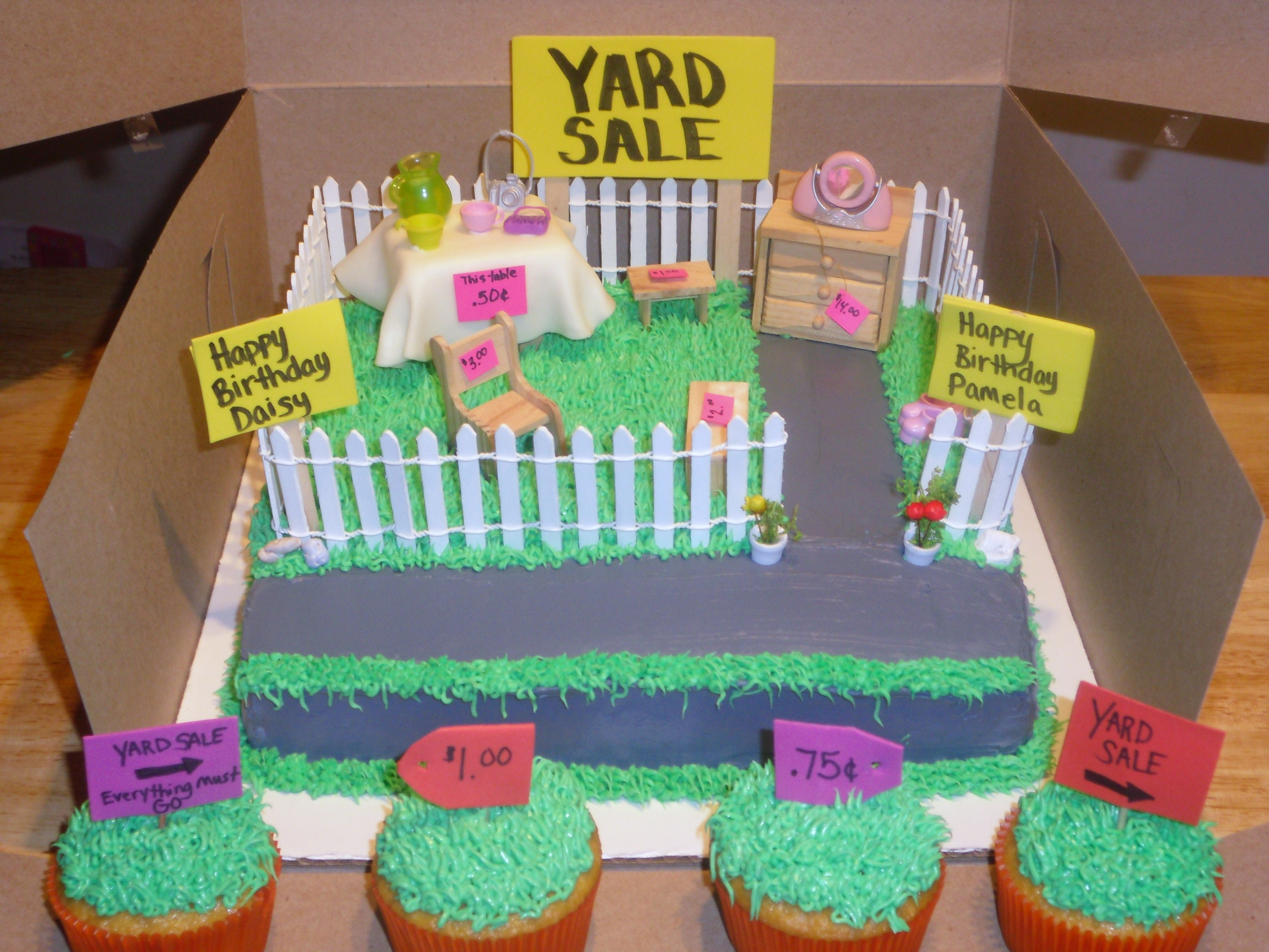 Amazing Yard Sale Birthday Cake Cakecentral Com Birthday Cards Printable Opercafe Filternl