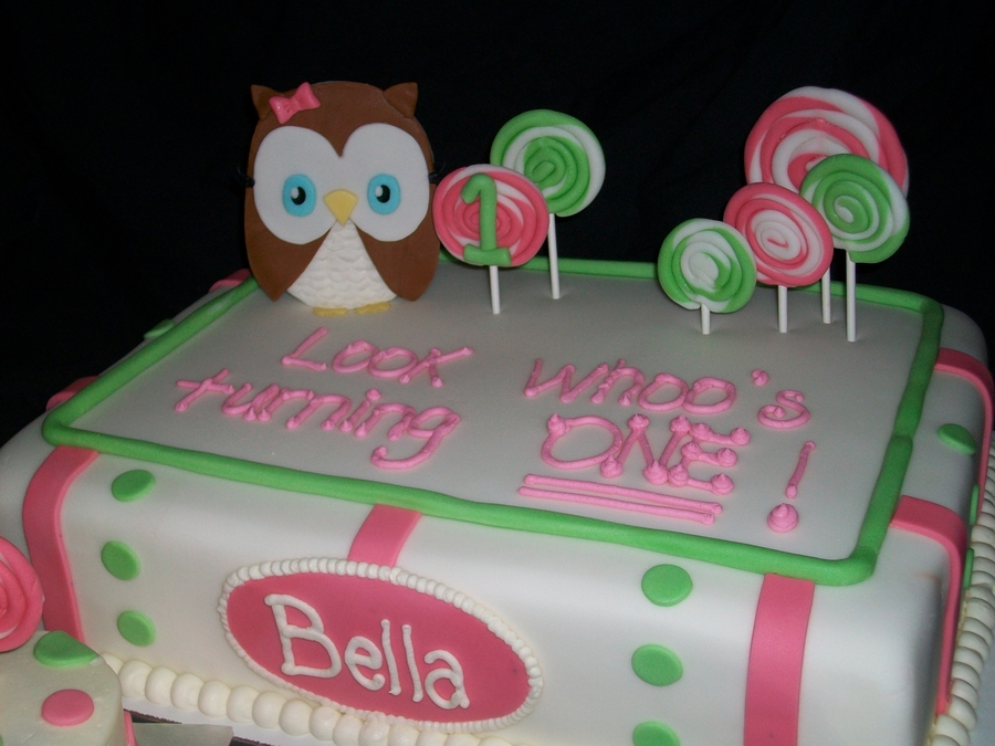 Look Whoo's Turning One! on Cake Central