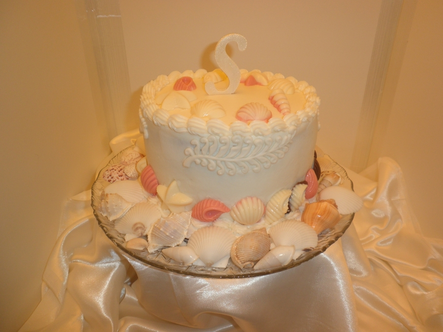 Seashell Anniversary Cake on Cake Central