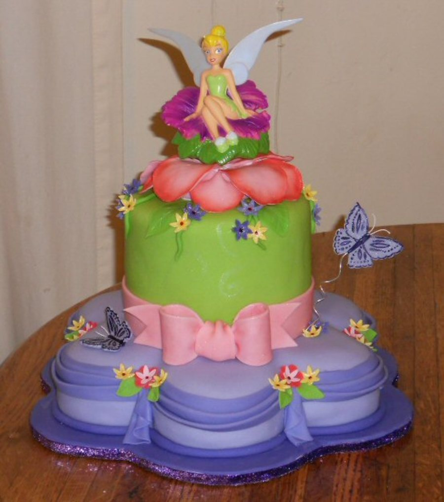 Sensational Tinkerbell Birthday Cake Cakecentral Com Personalised Birthday Cards Cominlily Jamesorg