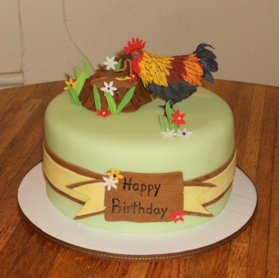Country Scene Birthday Cake Cakecentral