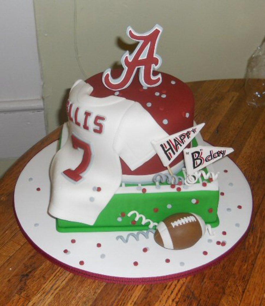 Astounding Alabama Themed Birthday Cake Cakecentral Com Personalised Birthday Cards Veneteletsinfo