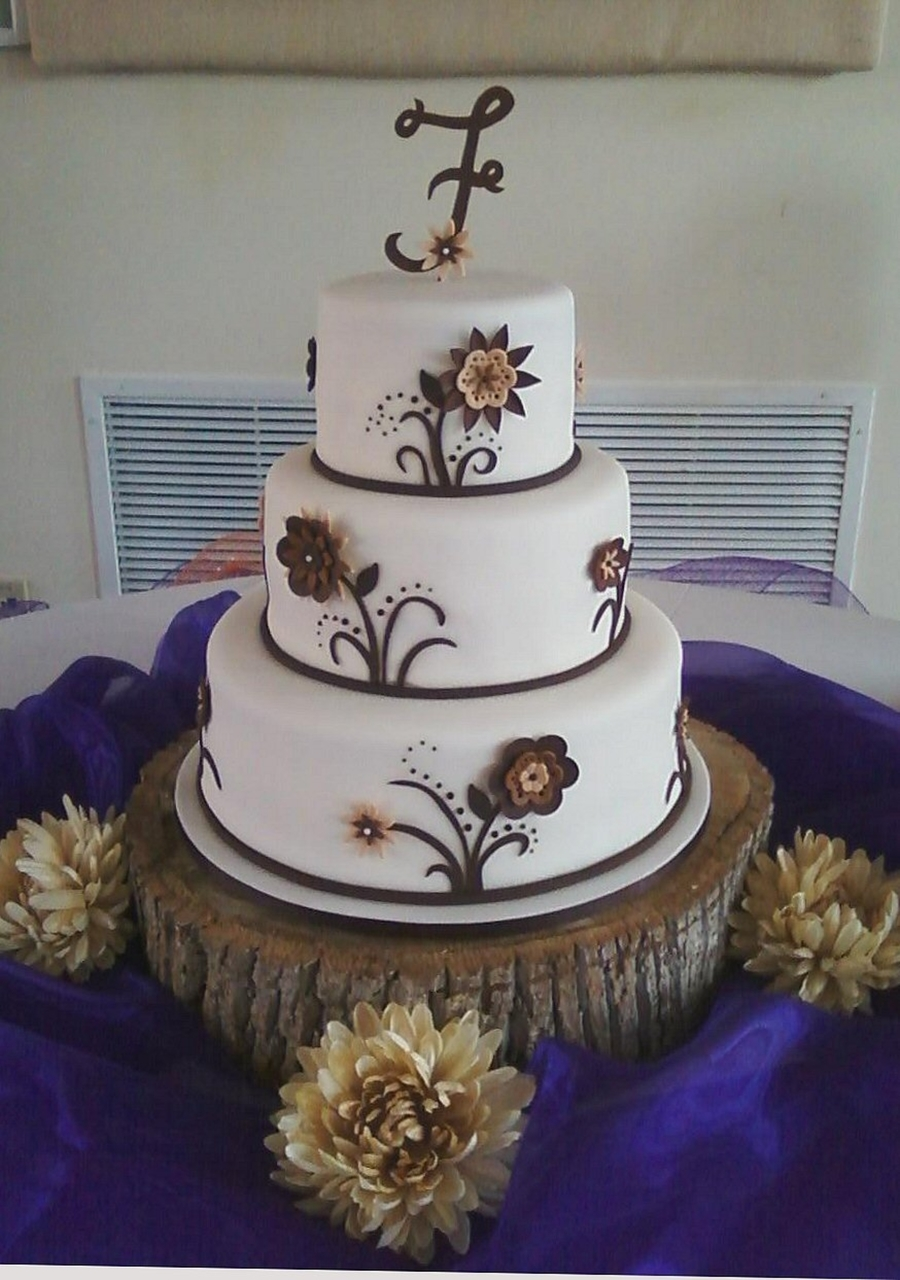 Brown Disney Wedding Cake