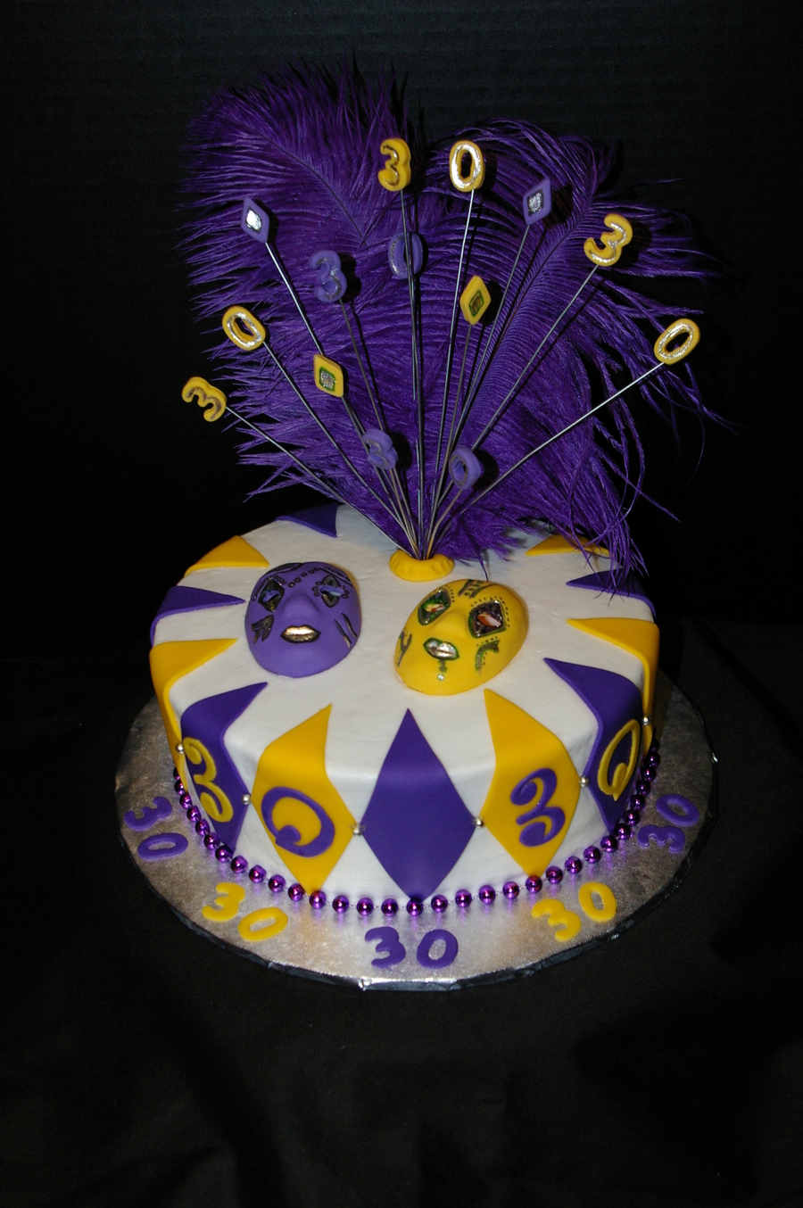 Mardi Gras Birthday Cake on Cake Central