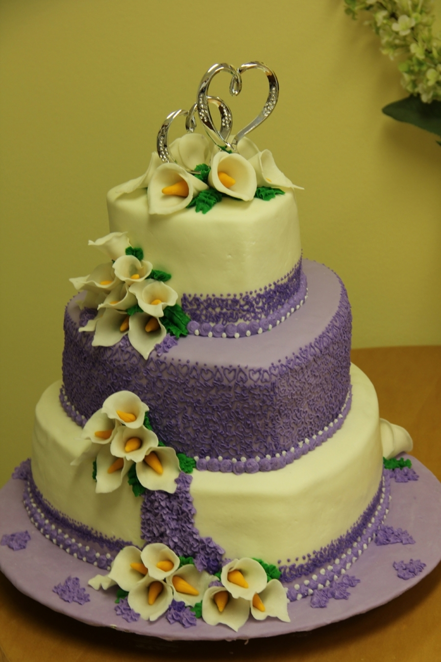 Hearts, Lilacs And Lillies  on Cake Central