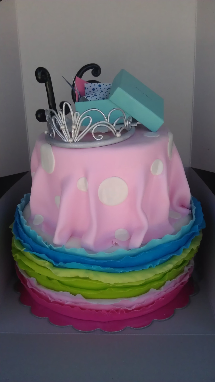 Ruffled Sweet 16  on Cake Central