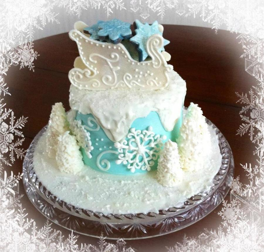 Winter Wonderland Anniversary Cake  on Cake Central