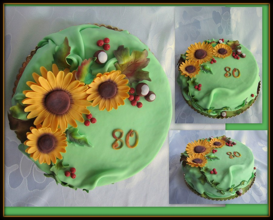 Autumn Flowers  on Cake Central
