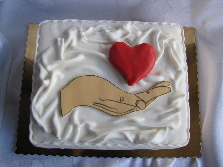Heart On The Hand on Cake Central