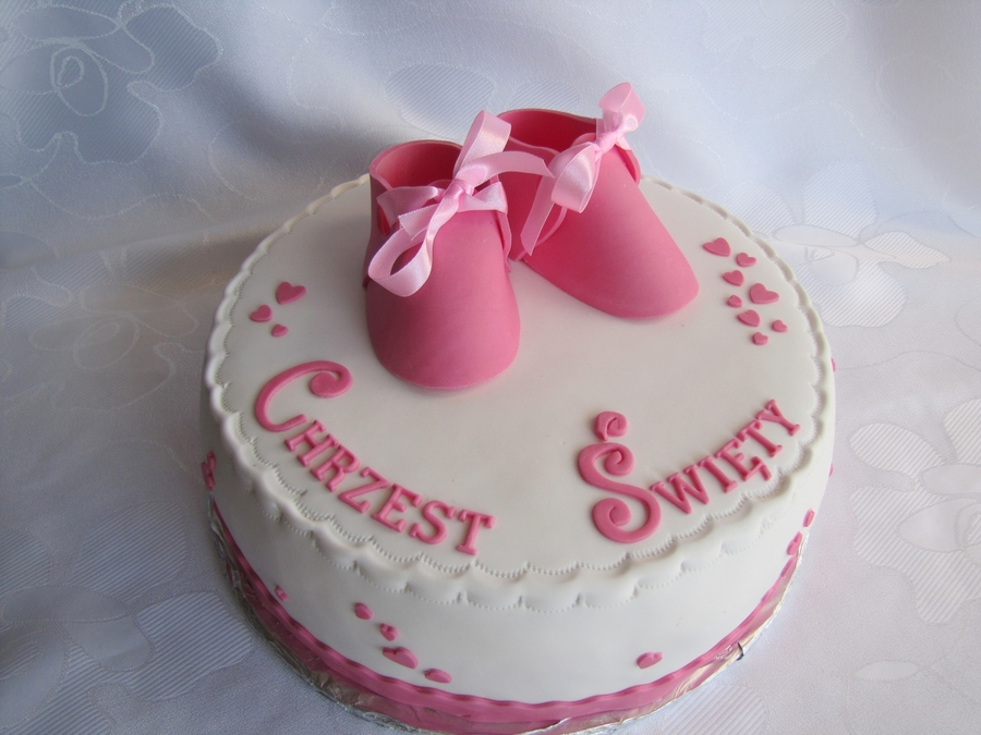 Baby's Shoes on Cake Central