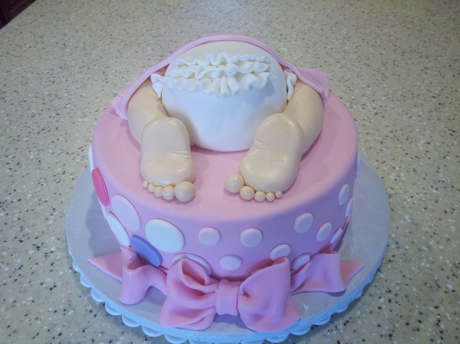 Pink Baby Bottom on Cake Central