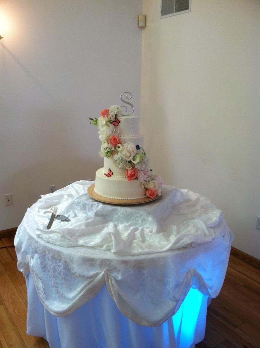 Elegant Flower Wedding Cake on Cake Central
