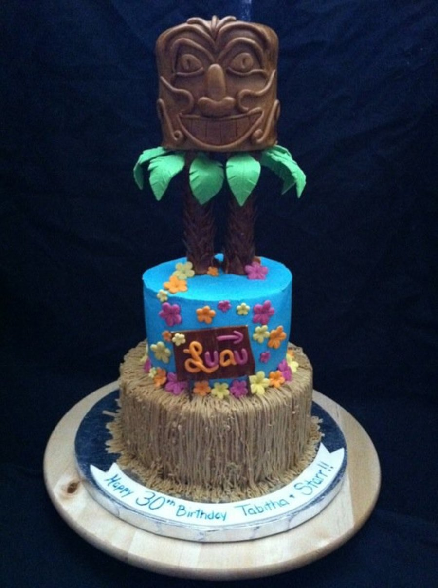 Admirable Hawaiin Luau Birthday Cake For Twins Cakecentral Com Funny Birthday Cards Online Elaedamsfinfo