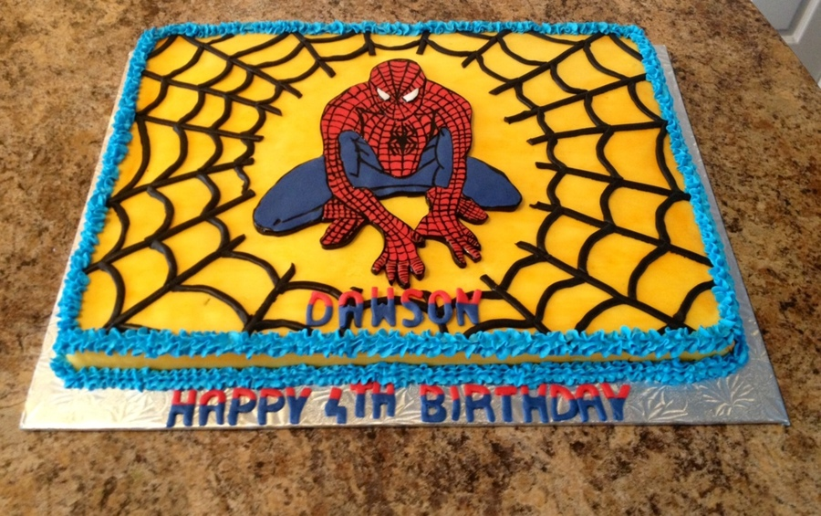 Spiderman 1/2 Slab  on Cake Central