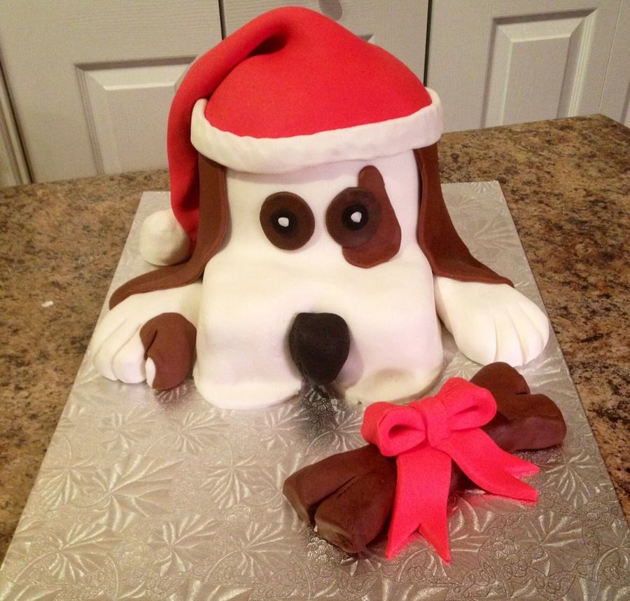 Puppy Christmas on Cake Central