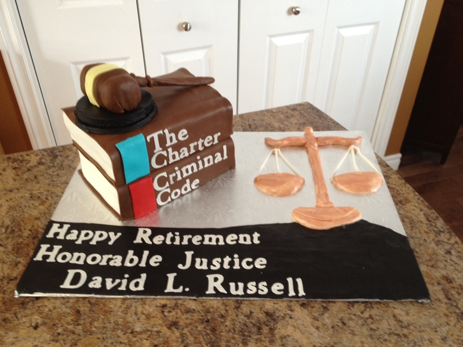 Supreme Court Judge  on Cake Central