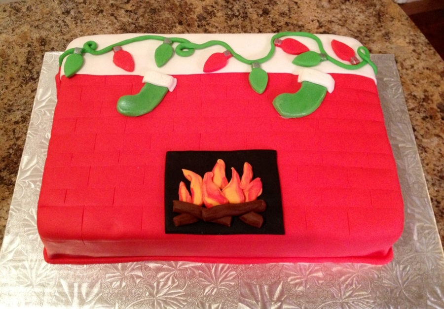 Christmas Fireplace on Cake Central