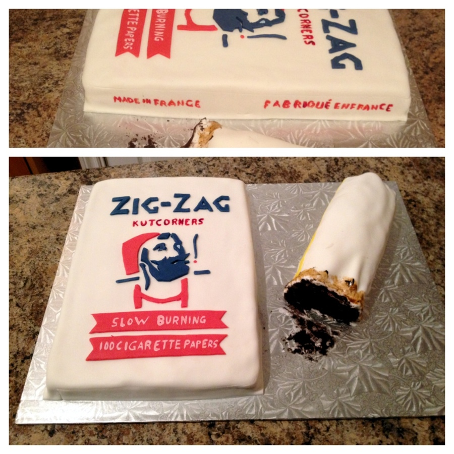 Zig Zag Papers And Half Joint on Cake Central