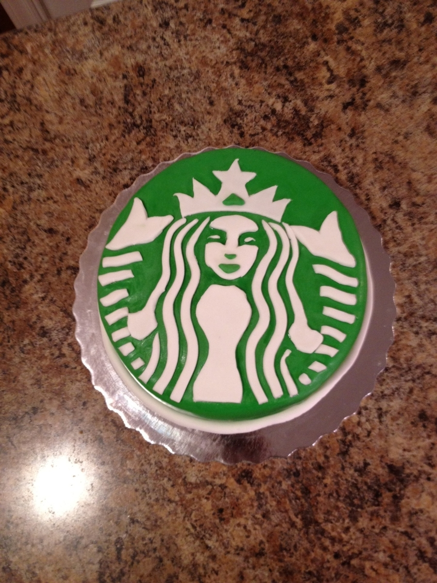 Starbucks Logo on Cake Central