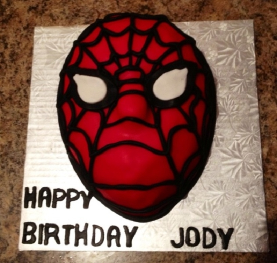 Spider-Man Head on Cake Central